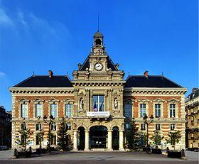 La mairie du XIXème arrondissement, en face des Buttes-Chaumont