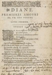 """""""Commentaires sur Desportes"""", François de Malherbe, 1600."""