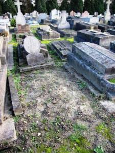 Tombe d'Ilarie Voronca en 2010, avant le travail de restauration opérée par Christophe Dauphin et à son collectif.
