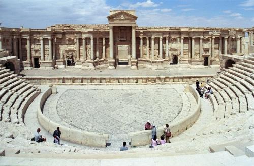 Le théâtre romain de Palmyre.