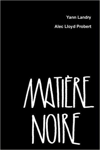 """""""Matière noire"""", un livre illustré."""