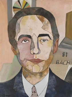 André Pieyre de Mandiargues peint par sa femme Bona