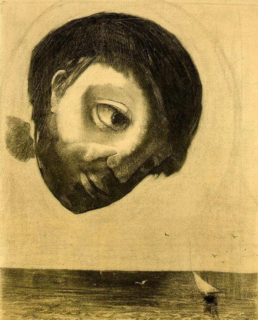 """""""L'Esprit gardien des eaux"""", Odilon Redon, 1878."""