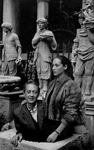 Pieyre de Mandiargues et sa femme Bona